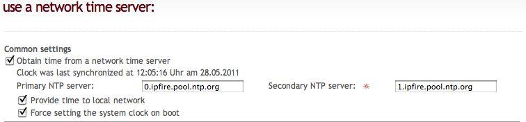 wiki ipfire org - NTP-Server