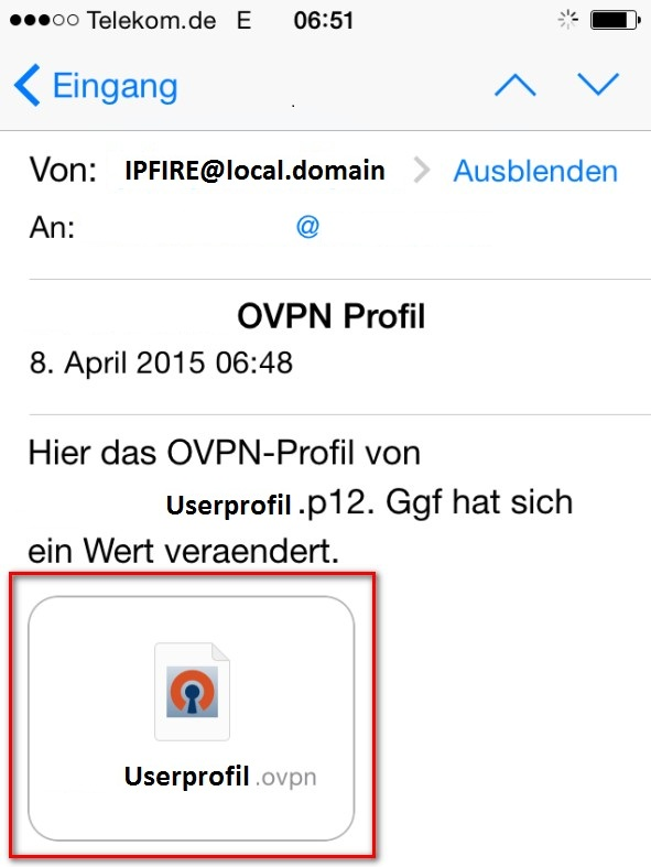 wiki ipfire org - Configure iPad and iPhone for OpenVPN