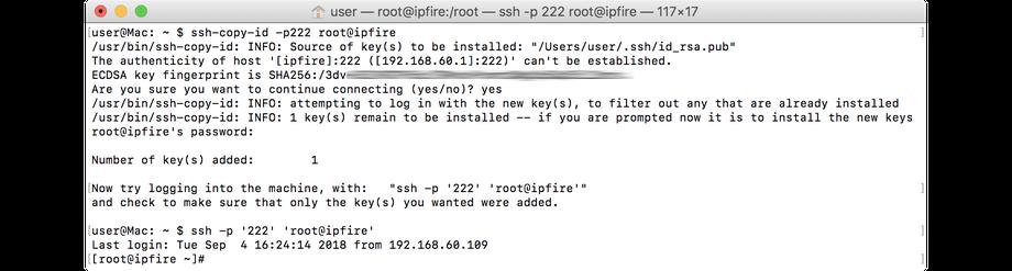 wiki ipfire org - SSH Access